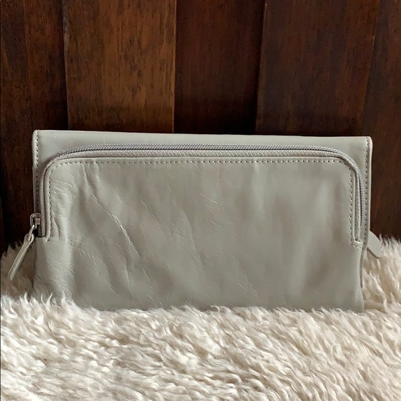 None Handbags - Gray leather wallet